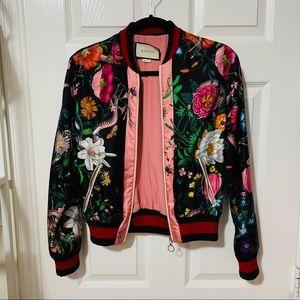 GUCCI Silk Floral Bomber